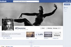 Layout For ArtInsomniac's Facebook Page.